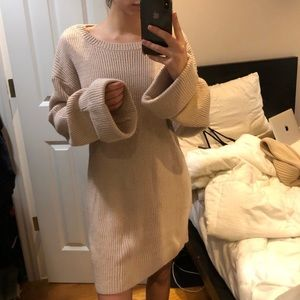 Tobi Bell Sleeve Sweater Dress